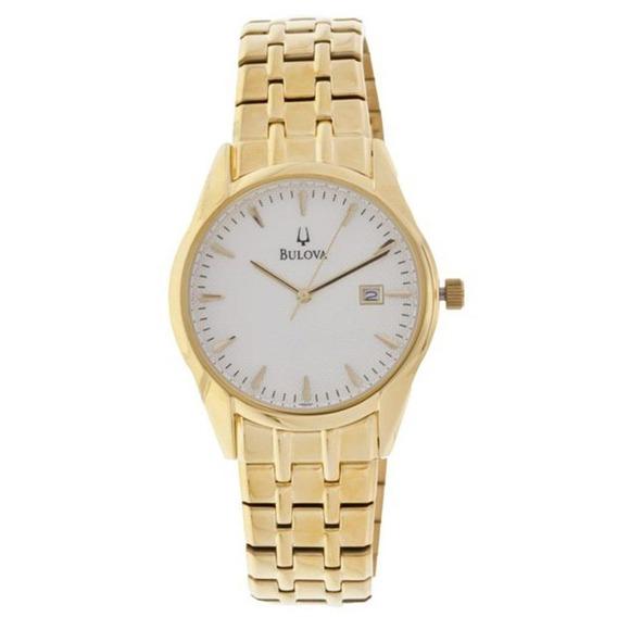 Relógio Bulova Masculino Aço Dourado Wb21445h