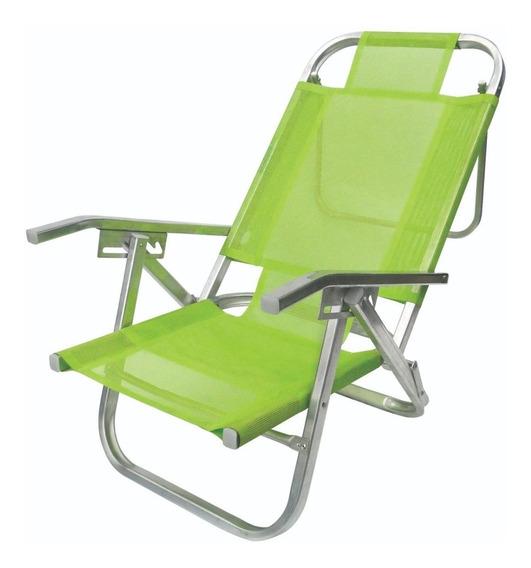 Cadeira De Praia Reclinável 5 Pos Copacabana Alumínio Sannet