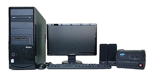 Computadora Monitor Cpu Cornetas Teclado Mouse Protector