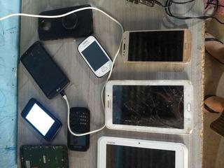 Lote De Celulares E Tablets Funcionando Com Defeitos