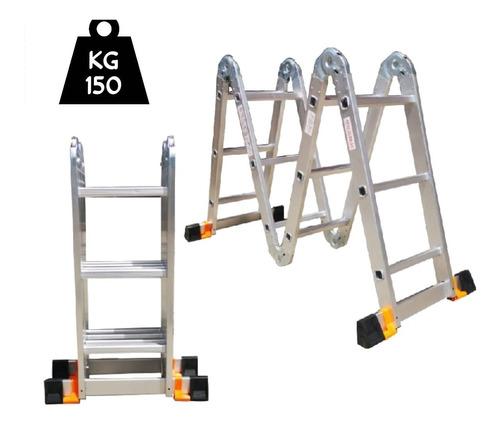 Escalera Multifuncional De 12 Pasos En Aluminio