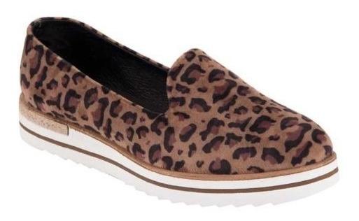 Flats Slipper 296 Animal Print Leopardo Mini Plataforma Cuña