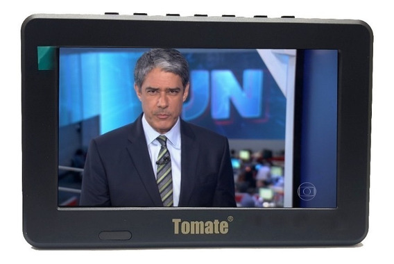 Tv Portátil Led Monitor Tv Hd Digital 7 Polegadas Usb