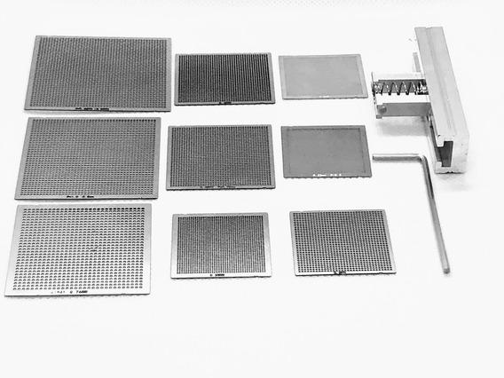 Stencil Estencil Universal Bga + Sup. Calor Direto Kit 9 Pçs