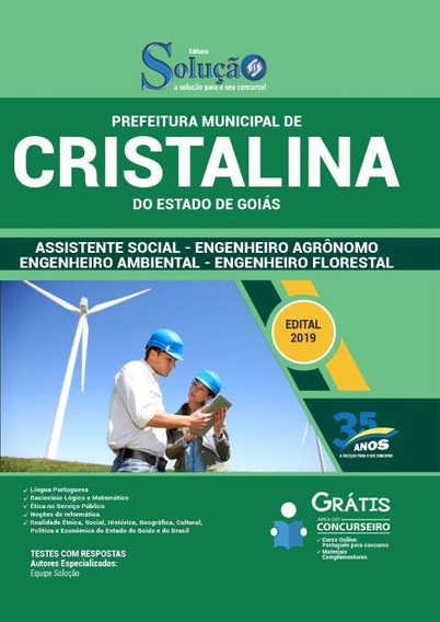Apostila Cristalina Go 2019 - Comum Nivel Superior