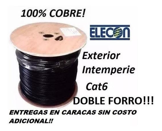 Cable Utp Cat6 Doble Forro X 10mt 100% Cobre Exterior Elecon
