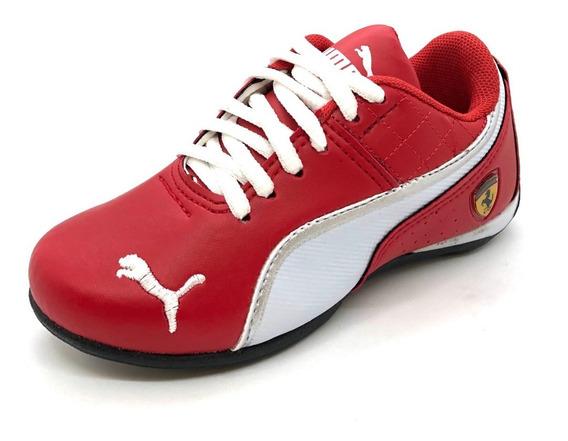 Tenis Infantil Via Vip Masc Fem Vv1020 E Chuterinha Vermelha