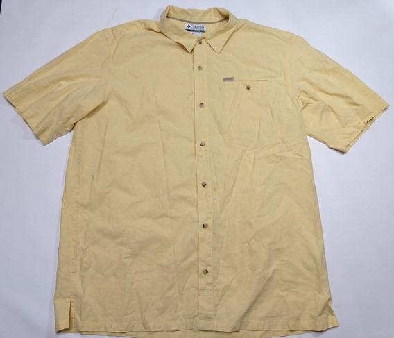 Camisa Columbia Algodon Amarilla Talle Xxl