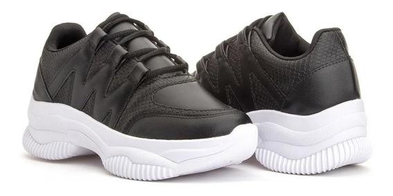 Tênis Feminino Sneaker Chunk Plataforma Flatform Colors Sofi