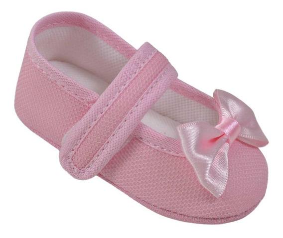 Sapatilha Sapatinho Tênis Bebe Baby Infantil Menina Pingo Doce R.6802 Rosa