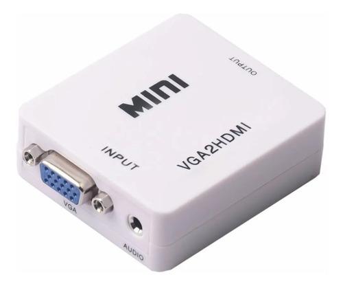Cable Conversor Adaptador Vga A Hdmi  Con Audio