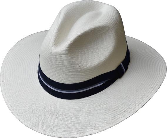 Sombrero Paja Toquilla Extrafina Tejido A Mano Ref. Lusitano