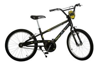 Bicicleta Do Batman Infantil Aro 20 Preta Bandeirante 3200