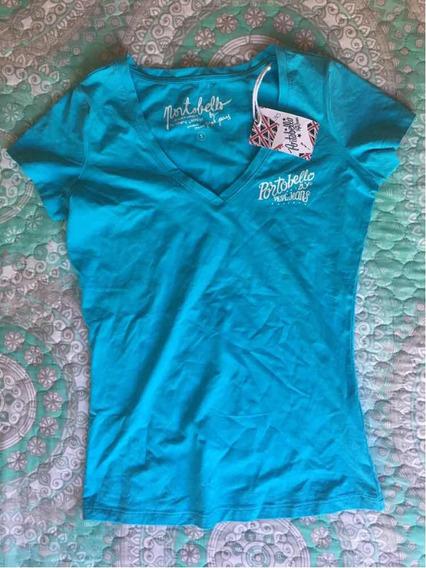 Playera Azul Cuello V Portobello Pepe Jeans Talla S