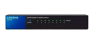 Switch De Red Linksys Se3008 8 Puertos Gigabite 100/1000mbps