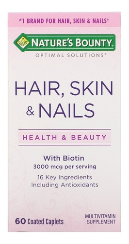Hair, Skin And Nails De Natures Bou - Unidad a $833
