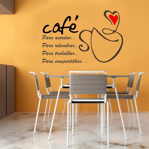 Adesivo Parede Café Acordar + Salão Beleza Cabelos