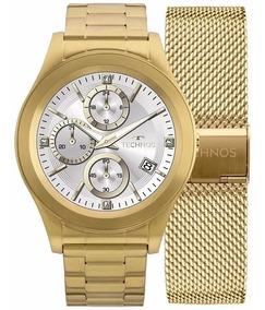 Relógio Technos Touch Screen Srae/4p Smartwatch Dourado