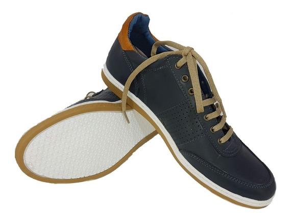 Zapatillas Urbana Hombre 100% Cuero Foot Notes Col Vs C 1290
