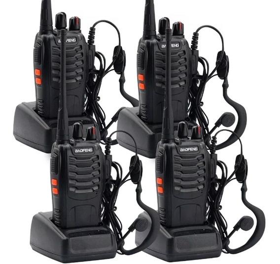 Kit X 4 Handy Baofeng Radio Walkie Talkie Bf888s 16ch - Uhf