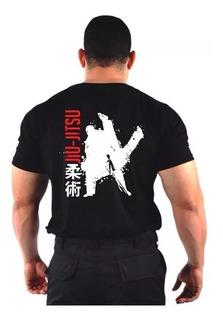 Camiseta Camisa Estampada Jiu Jitsu 100% Algodão - Original