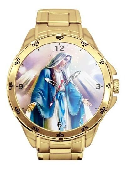 Nossa Senhora Das Graças Relógio Personalizado Dourado 5776