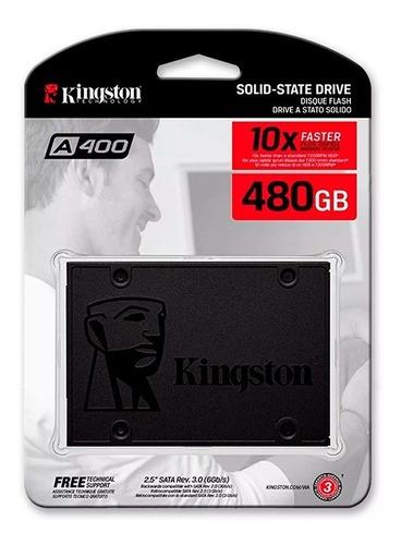 Imagen 1 de 5 de Ssd 480gb Kingston Sa400s37/480gb 2.5 Estado Solido Pc Y Lap