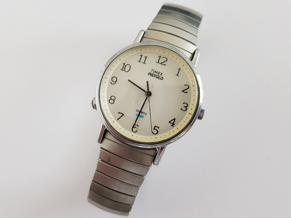 Timex Indiglo Quartz Para Conserto 01 Cx14