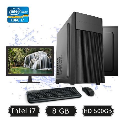 Pc Desktop 7ª Geração I5 7400 8gb Hd 1tb + Kit + Monitor 19