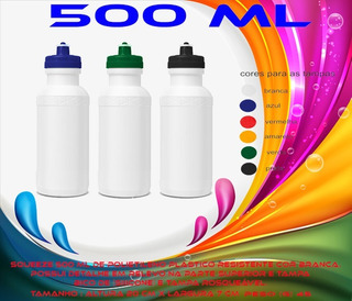 60 Squeezes Personalizados Barato De Plastico 500 Ml 1cor