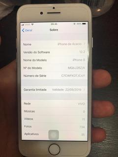iPhone 8 64gb Anatel Prata Biometria Off