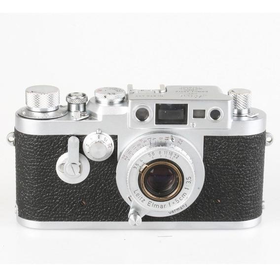 Câmera Analógica 35mm Leica Iii G Com Elmar 50mm F3.5