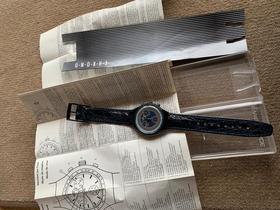 Relogio Swatch,cronograf Anos 90,com Manual Na Caixa,sem Uso