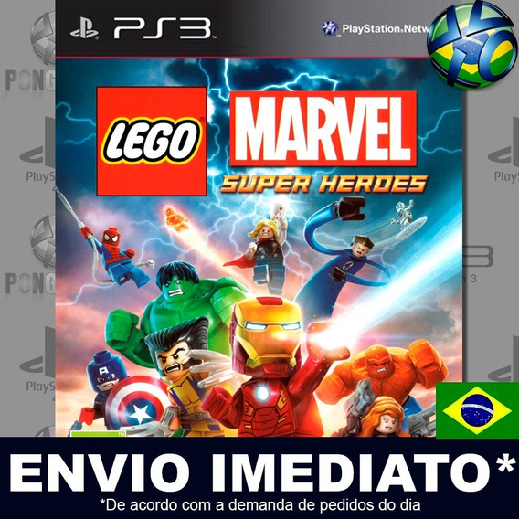 Lego Marvel Super Heroes Ps3 Psn Legendado Português Pt Br