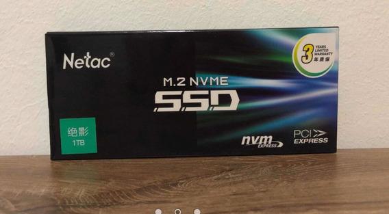Ssd Netac 1 Tb (1000gb) Nvme Pci 3 ,garantia 3 Anos , Rapido