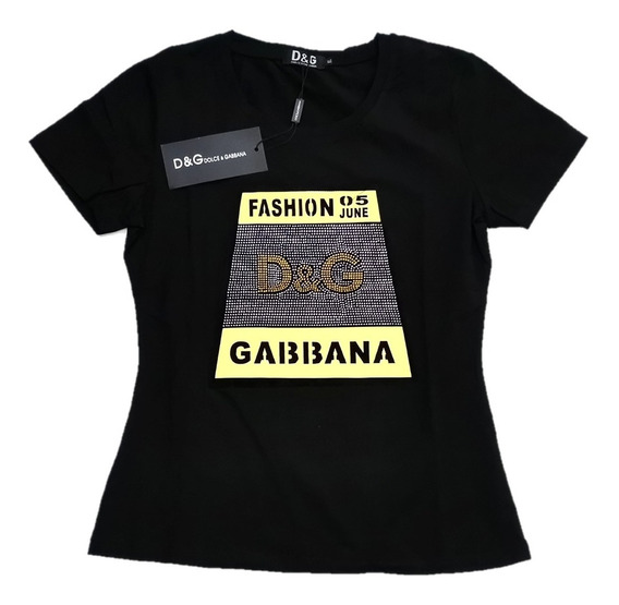 Blusa D & G. De Moda Para Dama Color Negro Talla Xl Bd&g