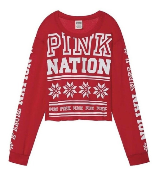 Buzo Liviano Cropped Pink Nation Victorias Secret