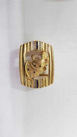 Hebilla De Oro Con Esmeraldas