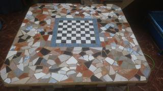 Mesa De Jardín Patio Revestida En Ceramica - Solo Mesa