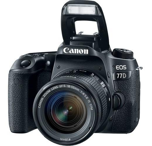 Câmera Canon Eos 77d + 18-55mm F/4-5.6 Is Stm C/ Recibo