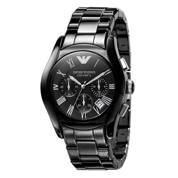 Relógio Armani Ar1400 Cerâmica Preto Cronógrafo Calendário