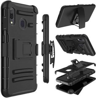 Funda Protectora Clip Holder Antigolpe Samsung Galaxy A20/30