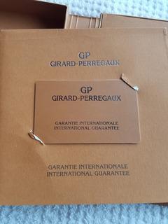 Cartão De Garantia Original Girard Perregaux + Caixa Estojo