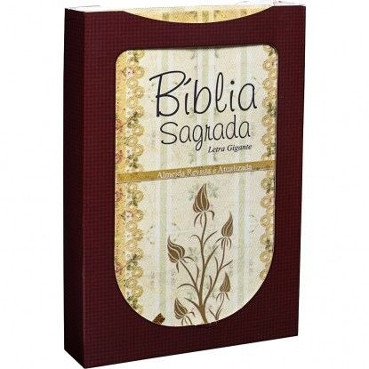 Bíblia Letra Gigante Luxo Capa Cetim Renda