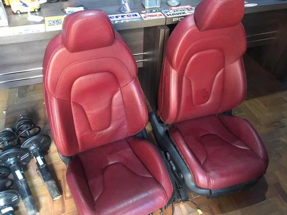 Bancos Dianteiros Recaro Audi R8 Tts S5 A5 Vermelhos