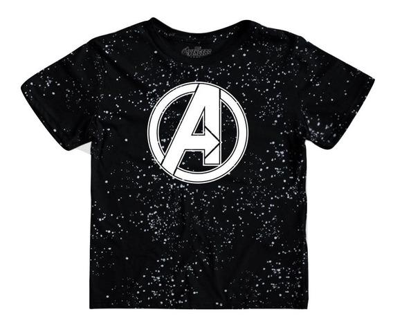Playera Avengers Space Logo Niño Mascara De Latex Endgame