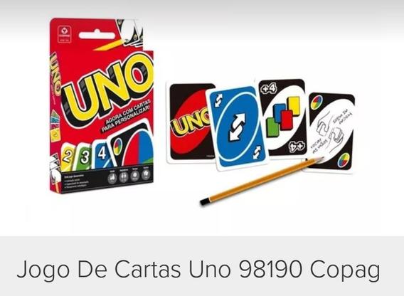 Kit Com 5 Caixinha Jogo De Cartas Uno