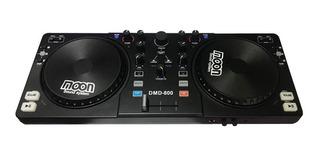 Controlador Mixer Dj Moon Dmd800 Usb C/ Placa Sonido La Roca