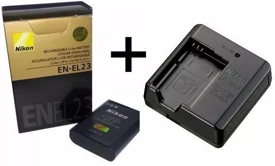 Bateria En-el23 + Carregador P/nikon Coolpix P600 P610 P900