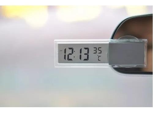 Relógio E Temomêtro Digital Para Carro Com Pilha